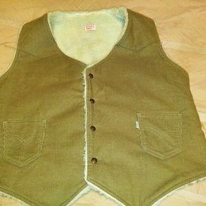 Vintage men Levi trucker vest